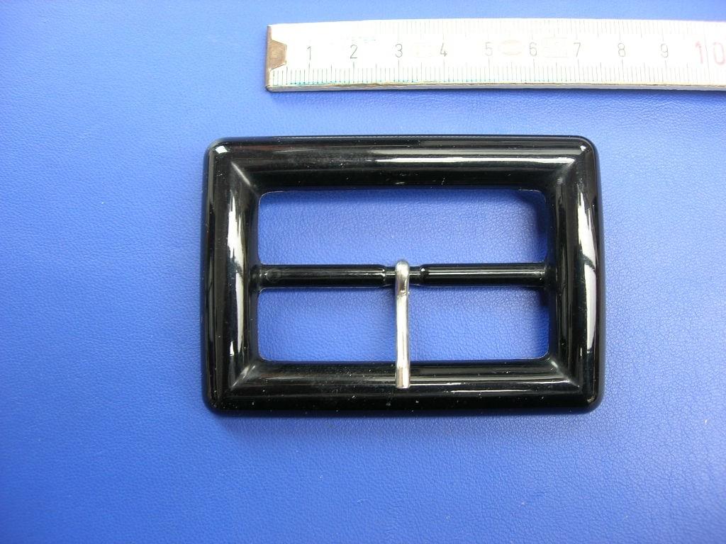 Plastik Doppelschnalle 6,0 cm schwarz (E19K143)