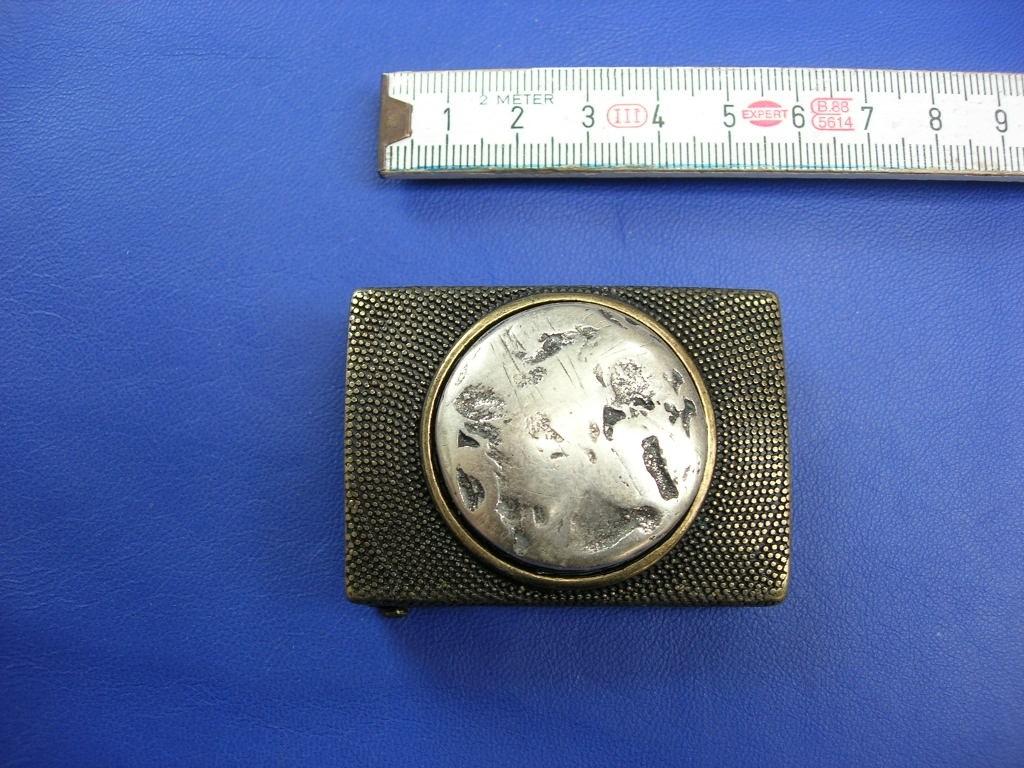 Koppelschnallen 3,5 cm altmessing / altsilber (E19K184)