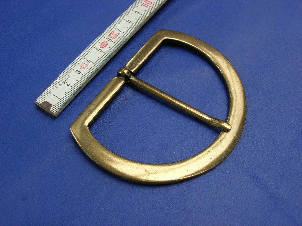 Halbschnallen 8,0 cm altmessing (E19K169)