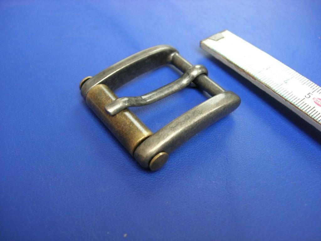 Rollschnalle altnickel / altmessing 3,0 cm (E19K202)  Zur Zeit ausverkauft.
