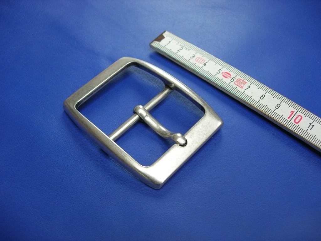 Doppelschnalle 4,5 cm altsilber (E19K236)  Zur Zeit ausverkauft.