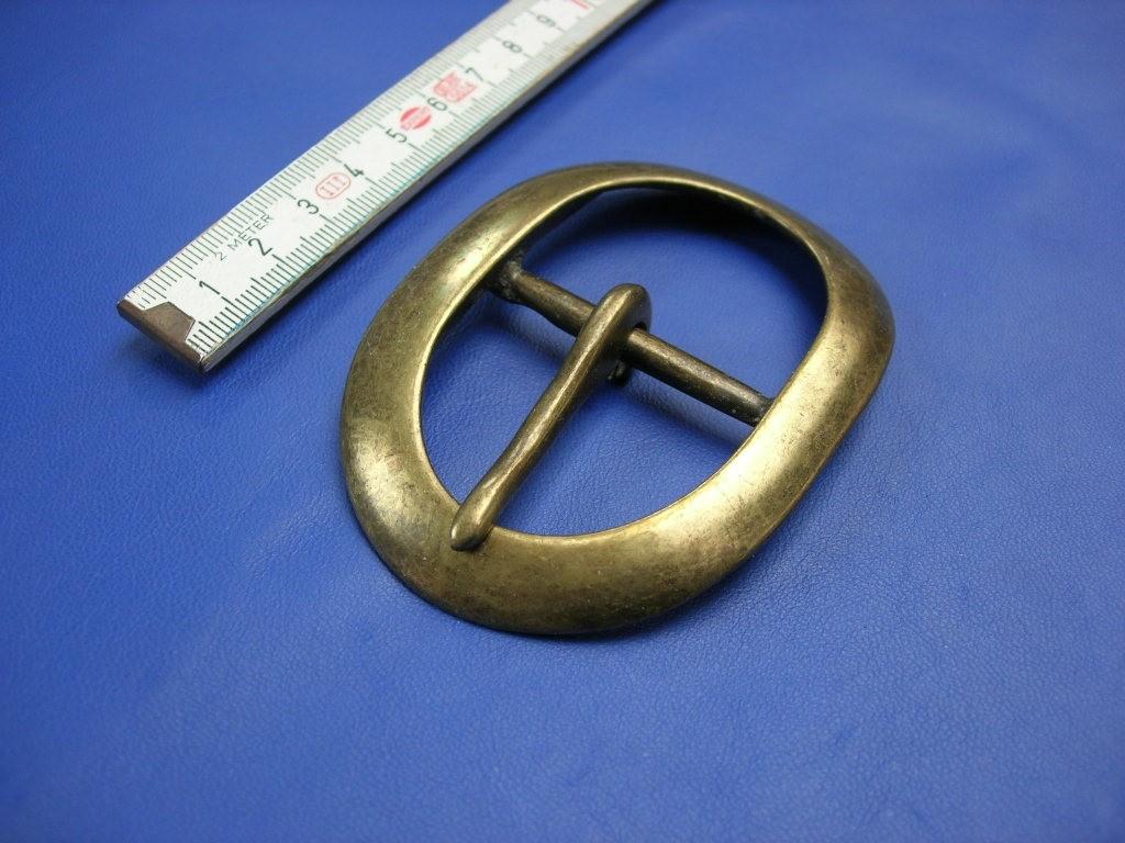Doppelschnalle 4,0 cm altmessing (E19K234)