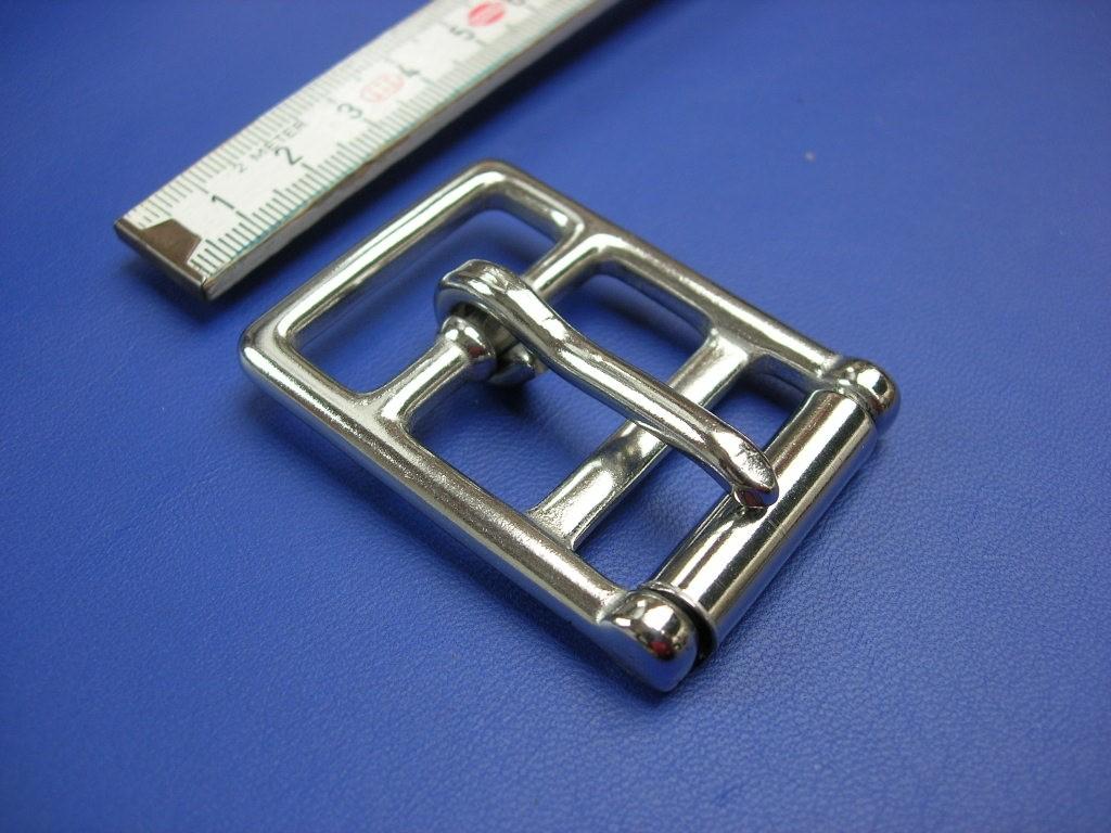 Doppelschnalle 3,0 cm Edelstahl (1235SS11/8)  Bestellware