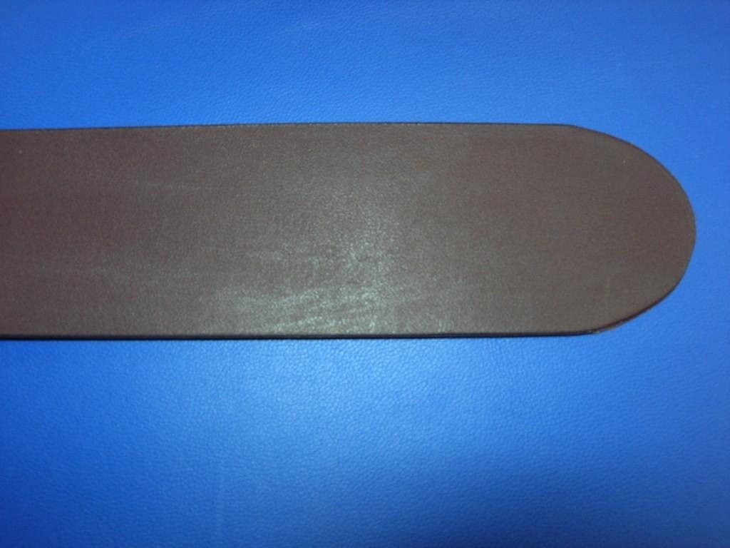 Vollrindgürtelstreifen dunkelbraun matt fest (GÜ6)
