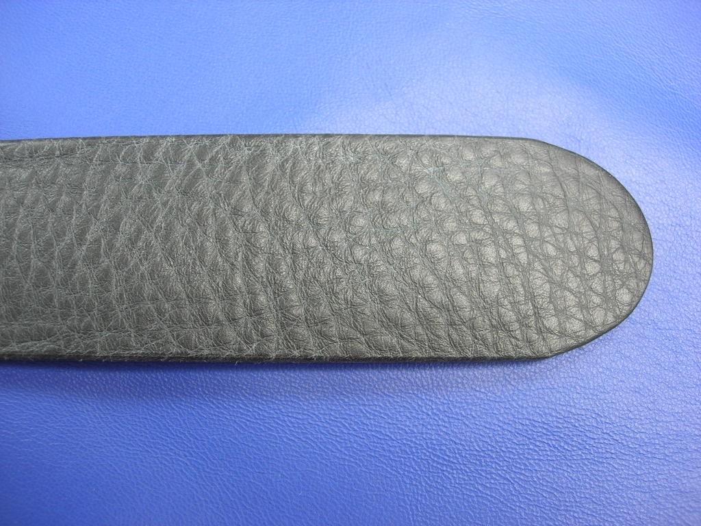 Vollrindgürtelstreifen schwarz weich genarbt (GÜ12)
