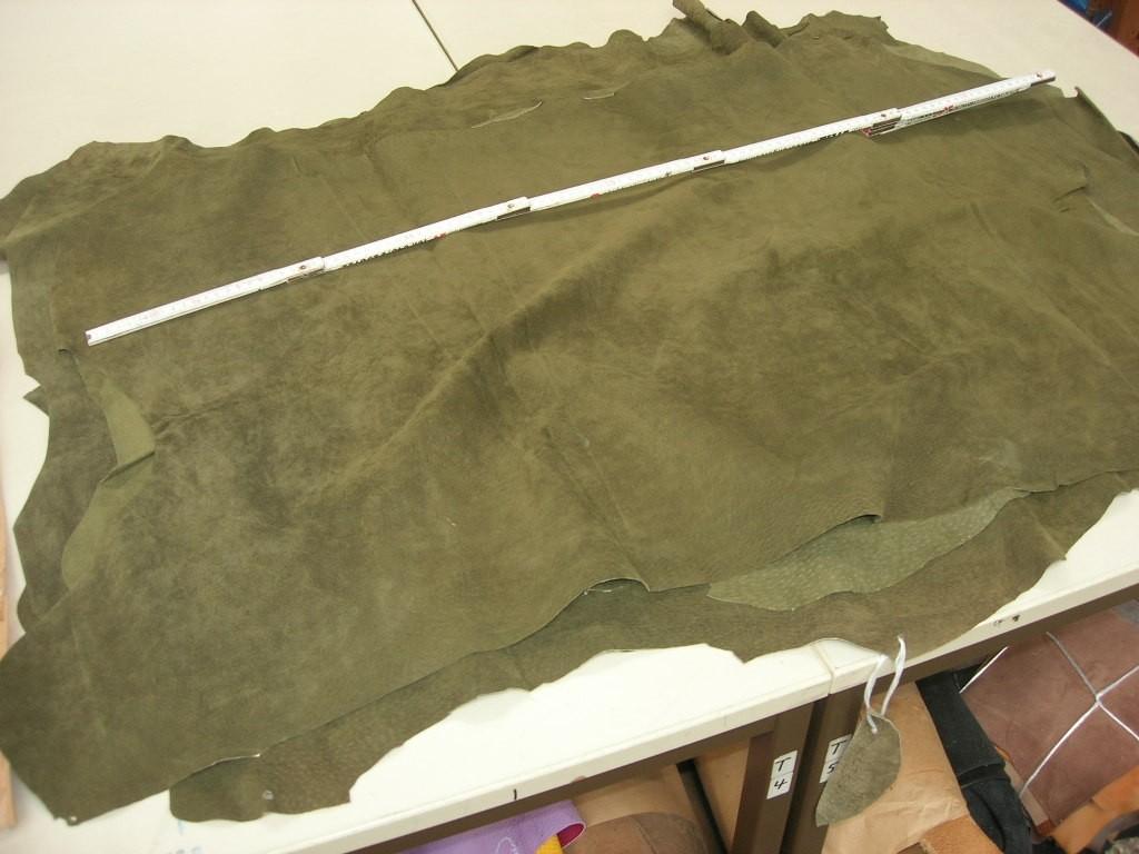 Schweinsvelour oliv 0,6-0,7 mm (M1210KSG)