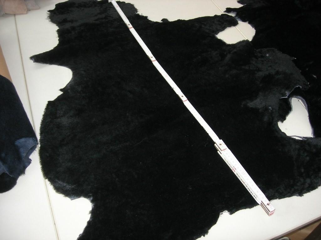Lammfellfutterfelle schwarz kräftig (O1610SS).
