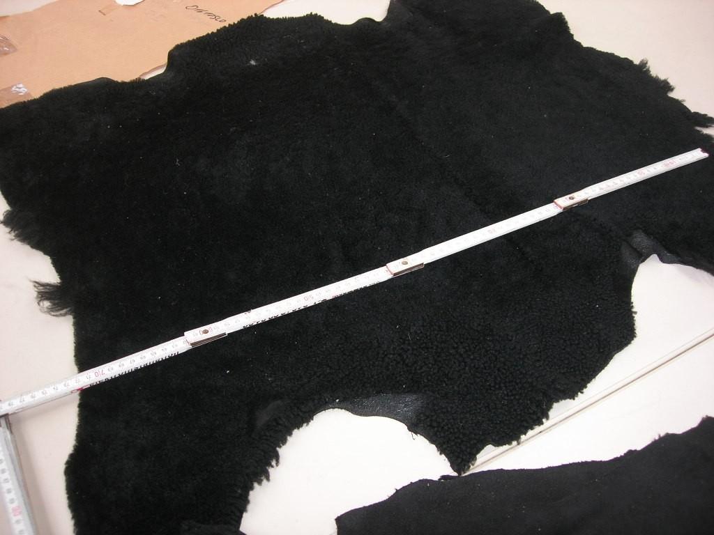 Lammfellvelour schwarz kräftig (O1610SLO)