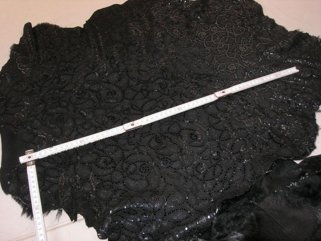 Lammfelle schwarz gemustert (A1114S)