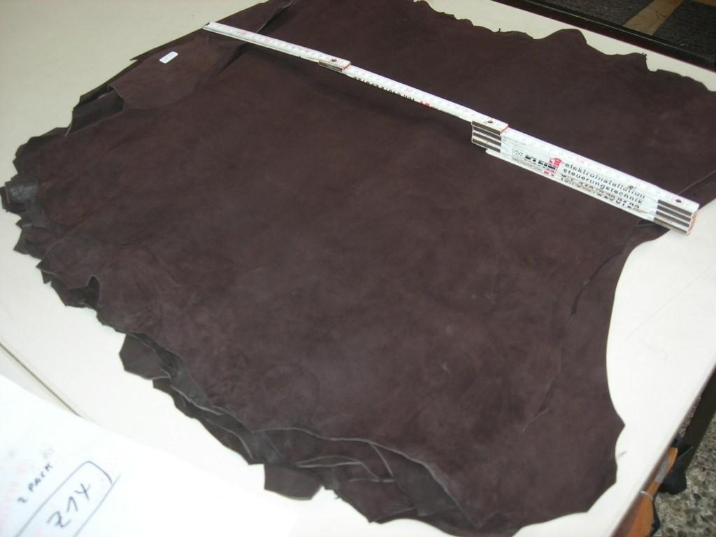 Ziegenvelour dunkelbraun (O1813KZ14) 0,9 mm