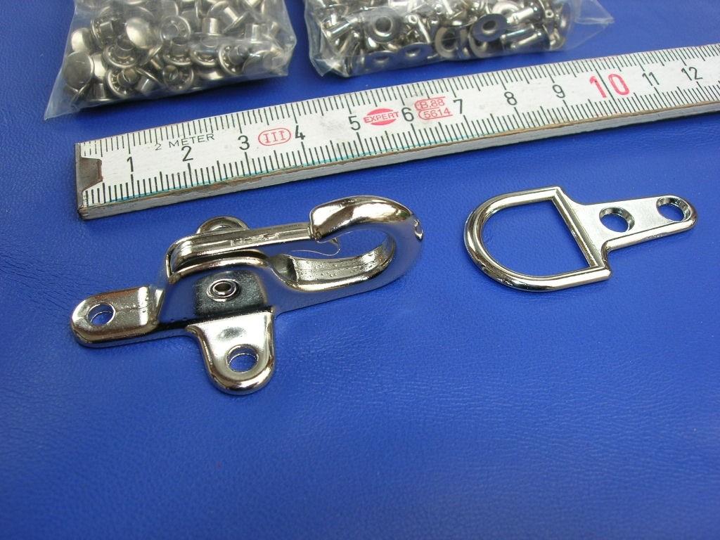 Aufnietkarabiner vernickelt 5 cm (AKNI)
