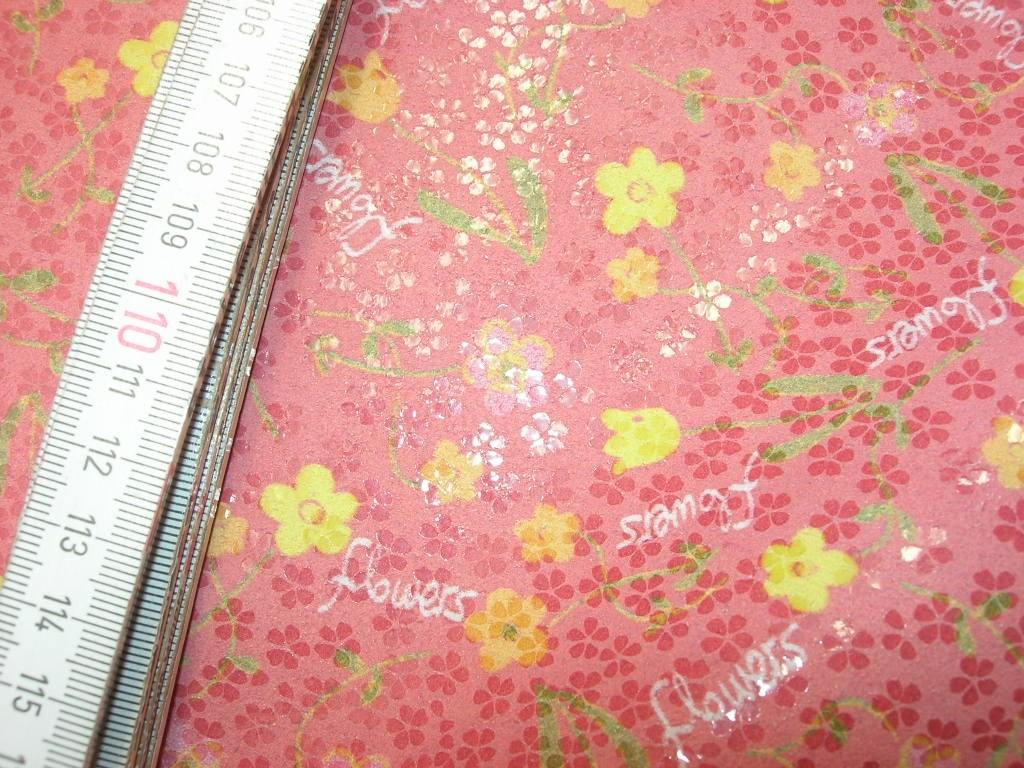 """Rindspaltleder """"Flowers"""" rosa 1,2 mm (T1110KB)"""