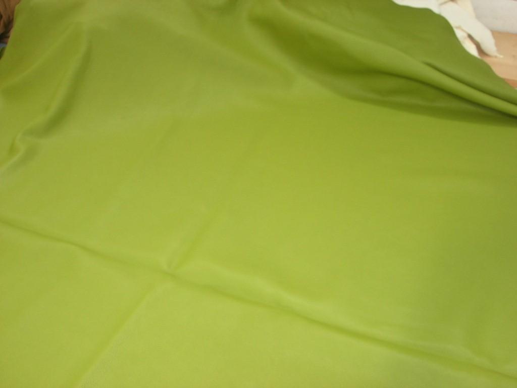 Möbelleder maigrün 1,5mm Millkorn anilin (F182150G2)  Zur Zeit leider ausverkauft.