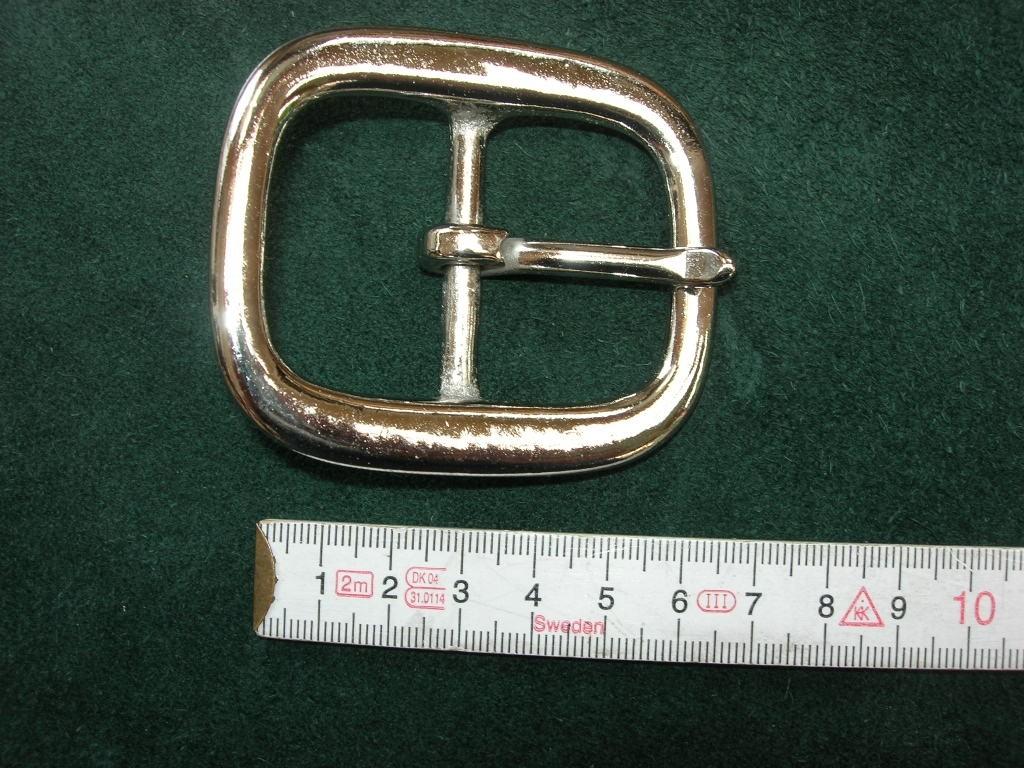 Doppelschnalle 4,0 cm massiv messing vernickelt (5705B1 1/2NI)