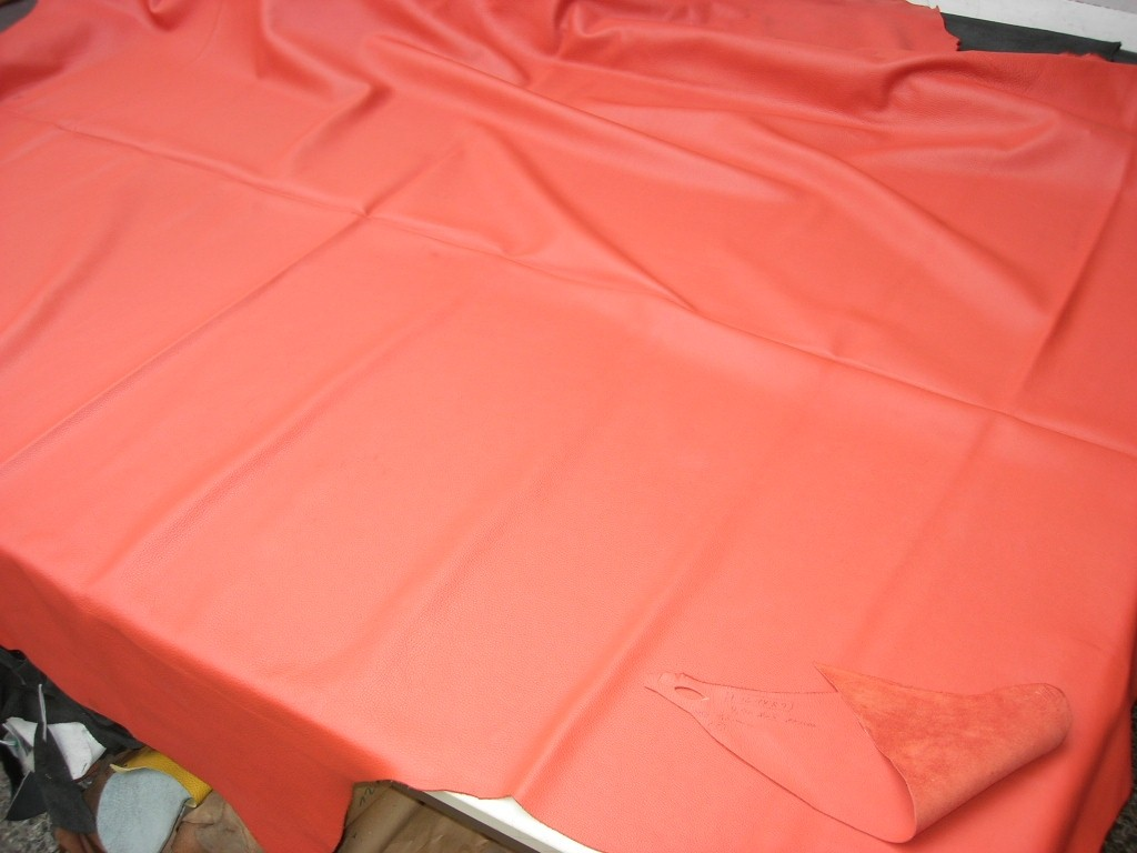 Möbelleder rot-orange 1,5mm semianilin (F1614R10)