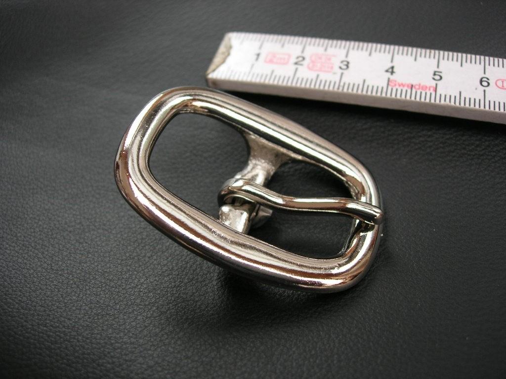 Doppelschnalle 2,0 cm massiv messing vernickelt (5705B3/4NI).