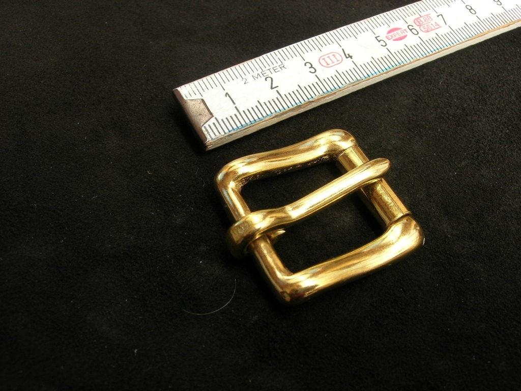 Rollschnalle 2 cm massiv messing (49B 3/4)