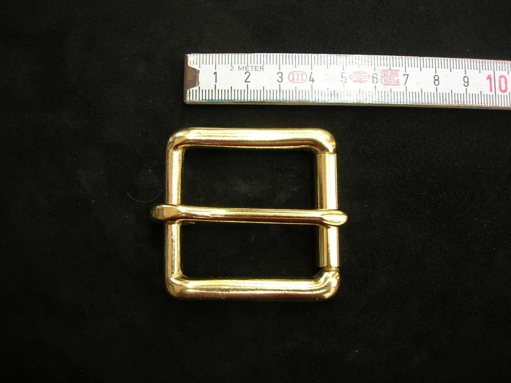 Rollschnalle massiv messing 3,8 cm (49B1 1/2me)