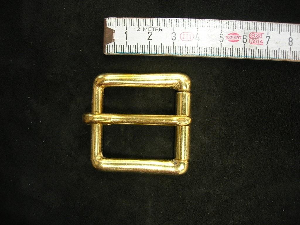 Rollschnalle 3 cm massiv messing (49B1 1/8me)