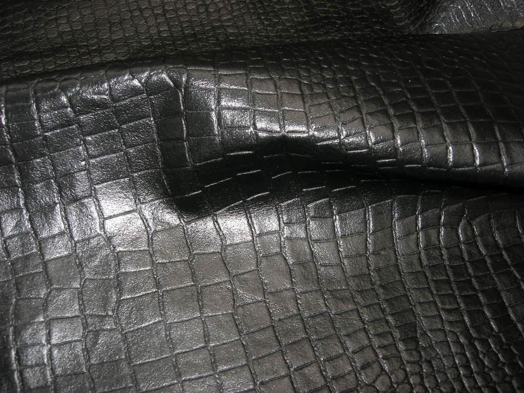 Kalbnappa schwarz-kroko 0,6mm (A19175KK)