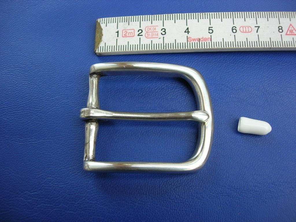3,5 cm Messinghalbschnalle versilbert (HS19245/35VSI)