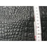 Lammnappa Krokoprägung  schwarz 0,4-0,5 mm (T2015KS)