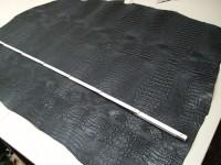 Rinderhals schwarz(I) Krokoprägung (E186150KS)
