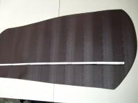 Wasserbüffelcroupon, Schlangenprägung dunkelbraun 3,0 mm (E1853SB)
