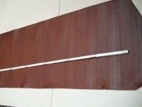 Wasserbüffelcroupon, Schlangenprägung cognac 3,0 mm (E1853SC)