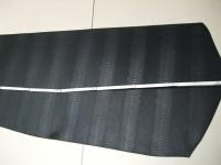 Wasserbüffelcroupon, Schlangenprägung schwarz 3,0 mm (EC2039SS) Zur Zeit leider ausverkauft.