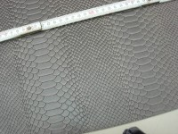 Wasserbüffelcroupon grau Schlangenprägung 3mm (EC2039G) Zur Zeit Ausverkauft.
