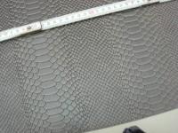 Wasserbüffelcroupon grau Schlangenprägung 3mm (EC2039G)