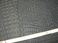 Wasserbüffelcroupon dunkelblau Krokoprägung 3mm (EC2039KL)