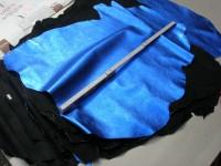 Ziegenleder blau metallic 0,7 mm (O1913KML)