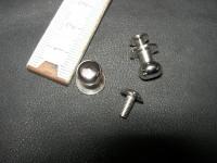 Patronentaschenverschlüsse 8 mm massiv messing vernickelt (PTV8MN)