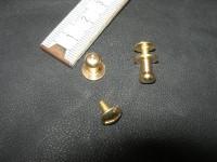Patronentaschenverschlüsse 6 mm massiv messing (PTV6M)