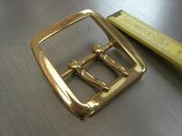 Doppeldorn mas.messing Doppelschnalle 4 cm (H19459/40)