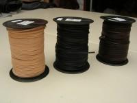 Vierkantriemen 3x3mm bis 2,8 mm auf 50m Rolle (I20VK). Natur, schwarz und dunkelbraun