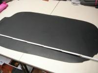 Wasserbüffelcroupon schwarz poliert (EC2036SP) 3,5mm