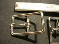 Doppelschnalle Stahl vernickelt 2,3 cm (121Z7/8NI)