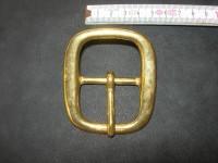 Doppelschnalle 4,0 cm massiv messing (5705B1 1/2ME)