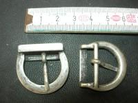 Doppelschnalle 2,0 cm altsilber (O1610KASI2)