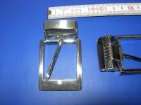 Klemmhalbschnalle 3,5 cm gebürstet (E19K7)