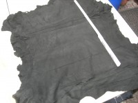 Ziegenvelour schwarz 0,6mm (A1319Z)