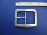 Doppelschnalle mit Strass 5,0 cm altsilber (E19K147)
