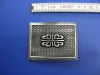 Koppelschnalle 5,0 cm altsilber (E19K141)