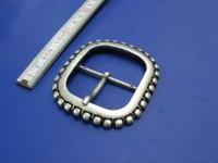 Doppelschnalle 5,0 cm altsilber (E19K133)