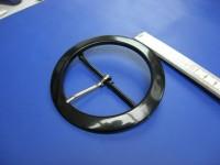 Plastik-Doppelschnalle 7,0 cm schwarz (E19K153)