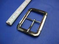 Doppelschnallen 4,0 cm zweifarbig schwarznickel nickel (E19K230)