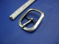 Doppelschnalle 4,0 cm altsilber poliert (E19K238)